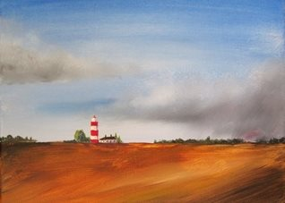 art Lighthouse, coast, beach, seaside, countryside,  personalised online greeting card