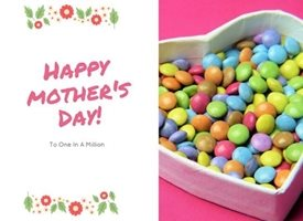 Mothers sweets treats heart love mum  personalised online greeting card