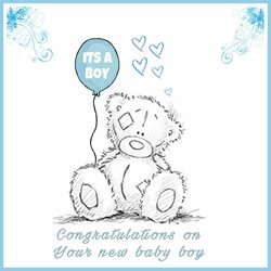 Baby Son, blue, cute, baby, boy, congratulations,  celebrate personalised online greeting card