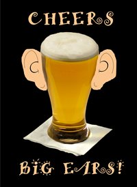 Birthday Beer Lager easrs Big Funny Humour  z%a personalised online greeting card