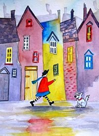 EmilyJane I Said Sit Art artwork dogs animals pets quirky funny for-her personalised online greeting card