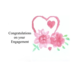 Engagement  flowers personalised online greeting card