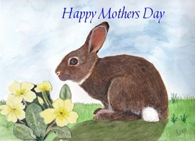 Mother Easter Rabbit     personalised online greeting card