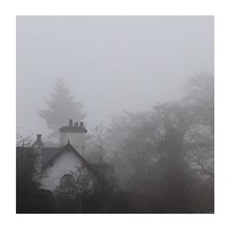 Photography UoR campus whiteknights white house in mist grey white autumn dawn personalised online greeting card