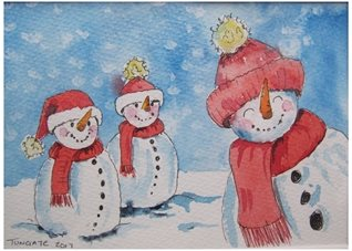 Christmas  Snowmen, snow, funny, humorous, uplifting, season, winter,  personalised online greeting card