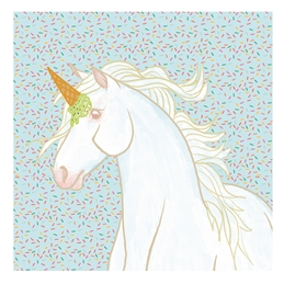General Unicorn, Horse, Majestic, Whimsical, Treats, Sweets, Ice Cream Cone, Sprinkles, Candy, Equine, Fun, Satire  personalised online greeting card