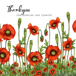 THANKYOU GENERQAL NOTELET armedforces military personalised online greeting card