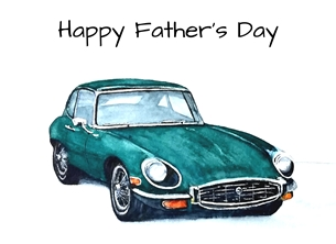 fathers car personalised online greeting card