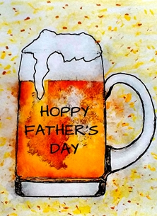 Fathers beer drink funny quirky for-him personalised online greeting card