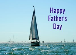 Debbie Daylights Father's Day Sailing fathers Father sailing boats yachts sea for-him personalised online greeting card