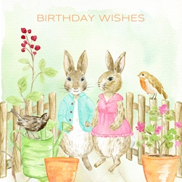 BIRTHDAY rabbits personalised online greeting card