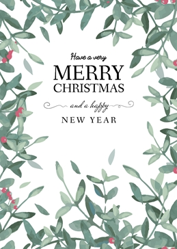 Merry Christmas And A Happy New Year Personalised Large