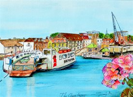 art General Isle of wight holiday fun joy celebration peace children family cowes floating bridge transport history z%a personalised online greeting card