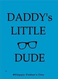 Fathers  Dad Daddy Blue Black  personalised online greeting card