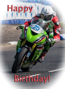 birthday birthday, for-him, motorcycle, motorbike, bike, racer, racing, photograph personalised online greeting card