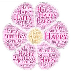 Birthday flower females girls  pink  personalised online greeting card