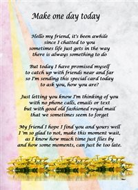 General Flowers Verse Poem Purple Pink Yellow Blue Grey Uplifting Happy Thoughtful  personalised online greeting card