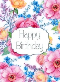 Birthday Flowers personalised online greeting card