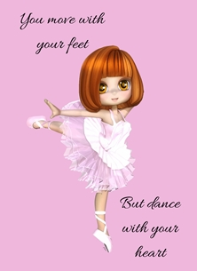 Tutu,Ballet Shoes, personalised online greeting card