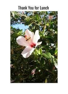 Thank gardens bees flowers hibiscus for-her for-him personalised online greeting card