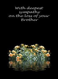sympathy Yellow Flowers Sad brother z%a personalised online greeting card