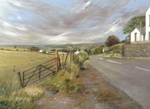 Art scenic/ countryside personalised online greeting card