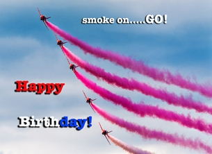 Birthday ^Red Arrows^ personalised online greeting card