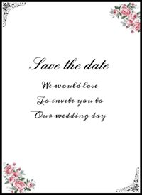 Wedding  occasion, date, invitation, love z%a personalised online greeting card