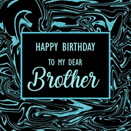 Biirthday Brother, for-him, black, blue, abstract personalised online greeting card