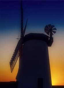 NorthLight Photo-Art Day's End photography  andbc, windmill, Millisle, Ards, Bangor, Donaghadee, Ards Peninsula, sunset, evening, sky,  inspiration, happy, joy, optimistic, peaceful, tranquil, serene, warm,  personalised online greeting card