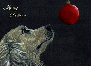 Sophie Louise Creates A Hint of Christmas christmas Dog, golden retriever, Christmas, MERRY CHRISTMAS, dog lovers, dogs personalised online greeting card