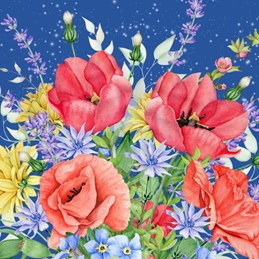 Snappyscrappy General Greeting Card General Notelet, Floral, For-Her, For-Him, Any Occasion personalised online greeting card