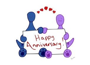 SDunlevey Artwork Happy Anniversary! anniversary anniversary, couple, wedding personalised online greeting card