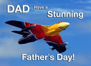 Fathers for-him, father, dad, father's-day, aeroplane, airplane, plane, jet, raf  personalised online greeting card