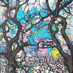 Stained Glass Trees: Elm Grove