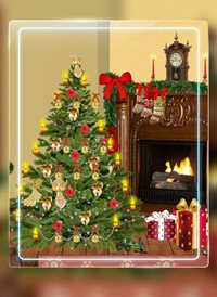 christmas tree fire z%a personalised online greeting card