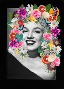 Marilyn in fruit and flowers