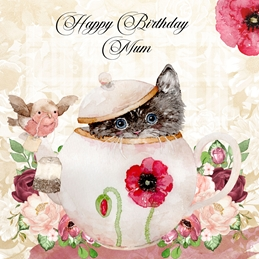 Millymoo Happy Birthday Mum personalised online greeting card