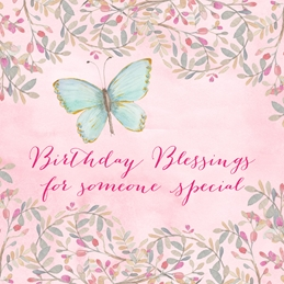 Butterfly Birthday Blessings