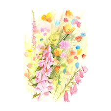Art General flowers personalised online greeting card