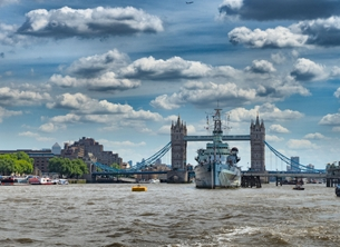 photography tower bridge hms belfast london landmark famous landscape skyscape river thames tourist attraction  personalised online greeting card