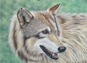Art wolf wildlife animal nature personalised online greeting card