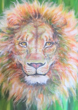 Art general lion, leo, king of the jungle, wild animals, Africa, zodiac,  for-him  personalised online greeting card
