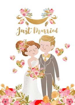 WEDDING MARRIED celebration personalised online greeting card
