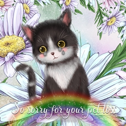 sympathy loss PET cats animals personalised online greeting card