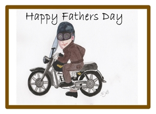 Motorcyclist Fathers Day Card