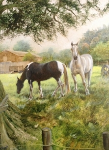 Art Horses country personalised online greeting card