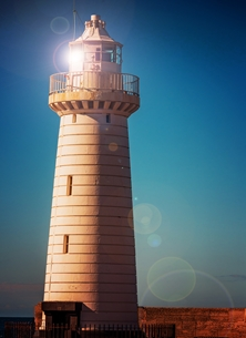 Photography andbc, donaghadee, lighthouse, harbour, sea, seaside, coast, ship, summer, for-him, for-her, congratulations, sympathy,  personalised online greeting card