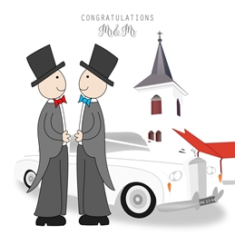 Wedding LGBT WEDDING male LGBT congratulations personalised online greeting card