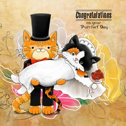 Purrfect Wedding Day Card